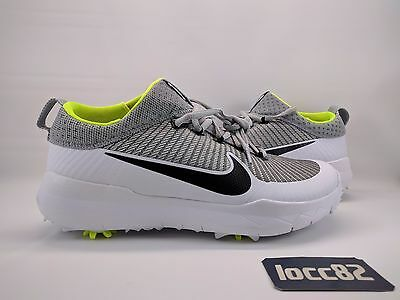 Nike Fi Premier Golf Shoes [835421 001] Silver White Black Volt rory tw