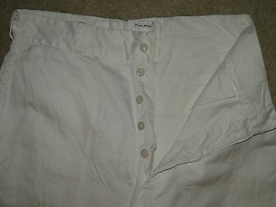 Vintage Button Fly White CHINO  ORIGINAL US military work pant 40s Sz.31X 31