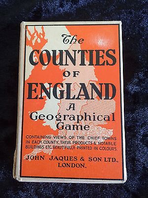 The Counties Of England Card Game By Jaques Of London Series 3 Eastern Counties