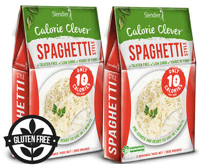 2 x Slendier Calorie Clever Spaghetti Style 400g