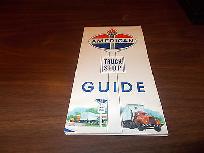 1950s American Oil Truck Stops Guide Vintage Road Map / Nice / Scarce
