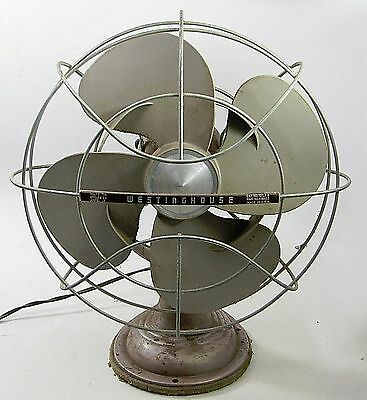 Vintage Art Deco Westinghouse 2 Speed Electric Table Fan