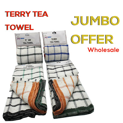 Wholesale Stock Lot Terry Tea Towels100 % Cotton Kitchen Dish Cloths(21 Dz/252)