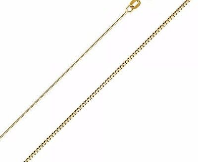 Real 14k Yellow Gold Necklace Gold Box 14kt Chain 16 18 20 22 Genuine Gold