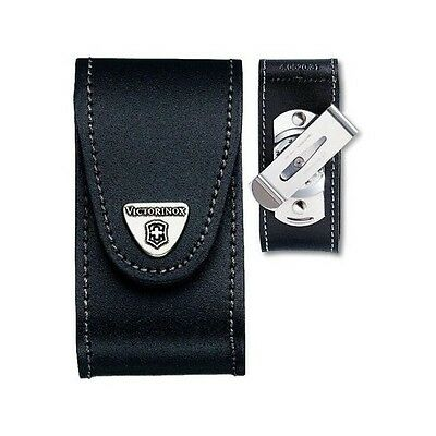 4.0521.31 Victorinox Black Leather Pouch 83-91 mm Knives Rotating Clip 5-8 layer