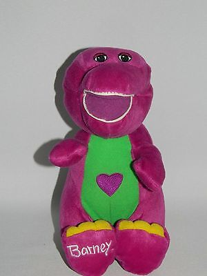 """Singing Barney The Dinosaur Soft Toy 11"""" Tall Sings 'I Love You, You Love Me'"""
