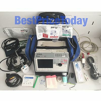 ZOLL E Series Biphasic 12 Lead ECG SpO2 NIBP etCO2 Analyze Masimo Set LoFlo Modu