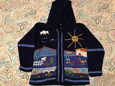 Kids Peruvian Sweater Blue Size 6