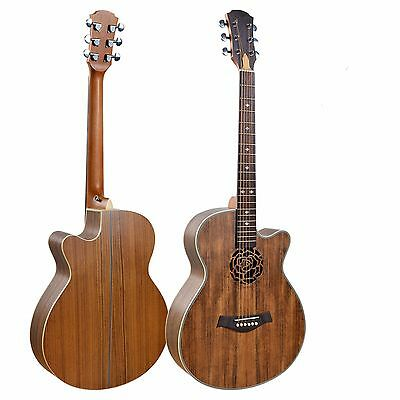 Acoustic Guitar Unique style 40 inch Walnut iMG845 Free 5 picks iMusicGuitar