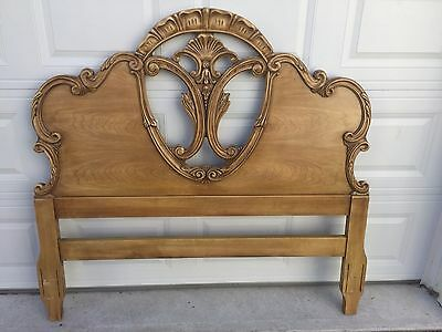 French Provincial Headboard Only with Metal Frame Vintage