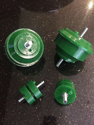 PAIR BMW E36 Engine & Gearbox Mountings GREEN Polyurethane