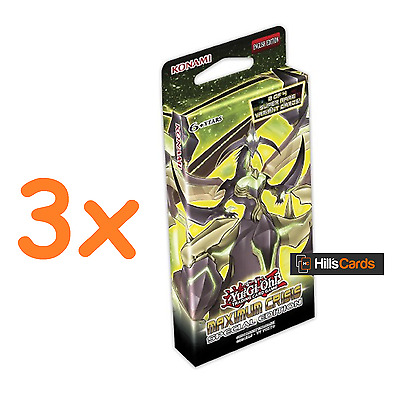 3x Yu-Gi-Oh: Maximum Crisis Special Edition - 3 Sealed Booster Packs of 29 Cards