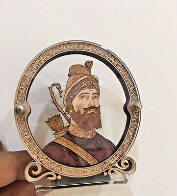 Sikh Guru Gobind Singh Ji Wood And Glass Temple For Car-Dashboard Free Gift bag
