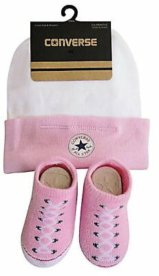 Converse Baby Chuck Pink Baby Hat & Sock Set (0-6 Months)