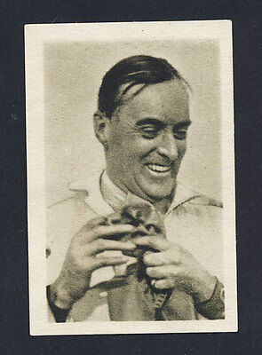 1934 Motor race card Sir Malcolm Campbell RARE Ilsa sweets Prague