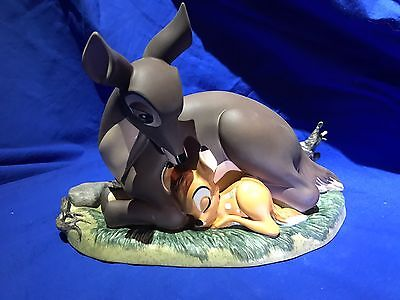 """Wdcc Disney Bambi And Mother """"my Little Bambi"""" #7557 Sculpture Coa Charm & Card"""