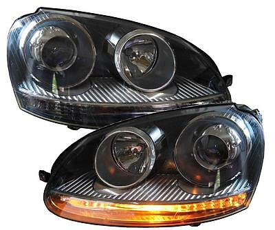 Scheinwerfer Vw Golf 5 03-09 Satz Gti-Look Depo Xenon-Optik H7 Halogen Jetta Set
