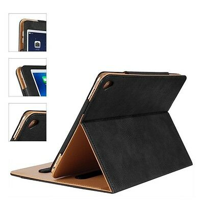 Magnetic Genuine Leather Smart Flip Case Cover For New Apple iPad Pro 9.7″ 2017