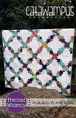 CATAWAMPUS QUILT QUILTING PATTERN, from Freckled Whimsy, *NEW*