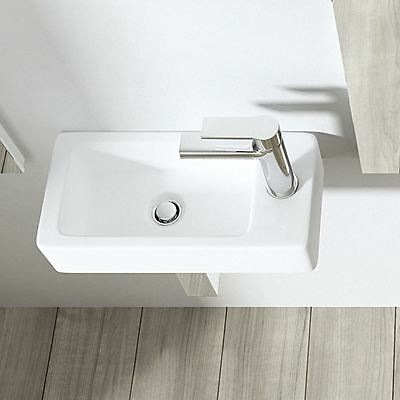 Durovin Bathroom Cloakroom Small Compact Wall Mount Countertop Basin Sink 360mm