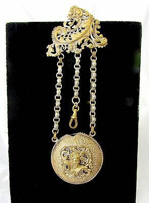 Antique Victorian Chatelaine Victorian/Edwardian Pocket Watch Fob/Chain