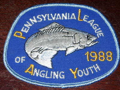 Pennsylvania Pa Game Fish Commission  Patch 1988 Walleye Angling  For Youth