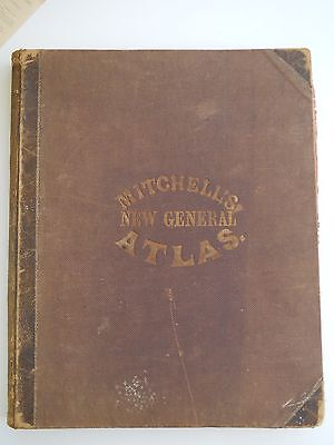 Mitchell's New General Atlas 1863 + Land Plot + War Poem + Family Names