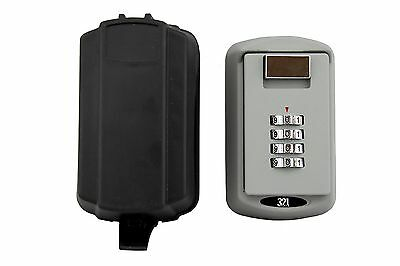REALTOR KEY LOCK BOX Safe Vault With FREE Waterproof Cover - Combination 4 Pi...