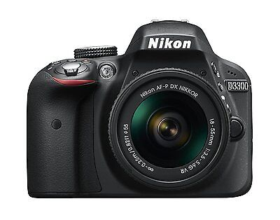 Nikon D3300 24.2MP Digital SLR Camera - Black w/18-55mm VR Lens