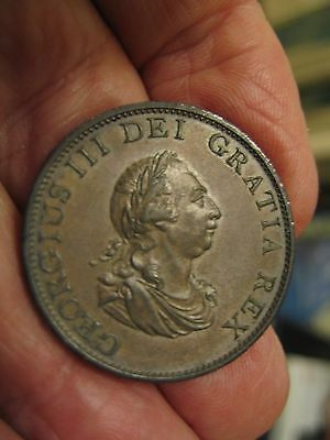 1799 George III copper Half penny in EF condition.