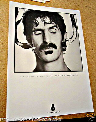 Frank Zappa Original Vintage Poster Art Photograph NYC Lynn Goldsmith Hasselblad