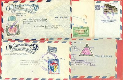 Nicaragua 5 diff Commercial cover to USA Lot#1521