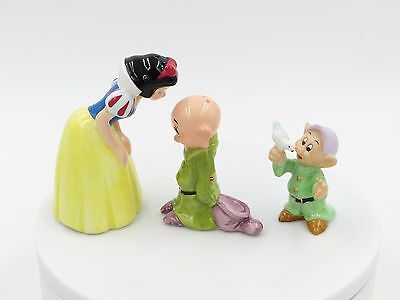 Snow White and Dopey Salt & Pepper Shakers Dopey Dove Disney Store LOT of 3