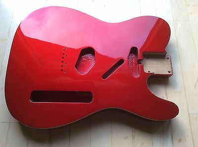 Göldo Body f. Tele Telecaster, US-Erle, Candy Apple Red Double Binding BTADCA