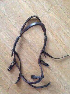 Rambo Micklem Brown Competition Bridle - Large Horse - Full Size