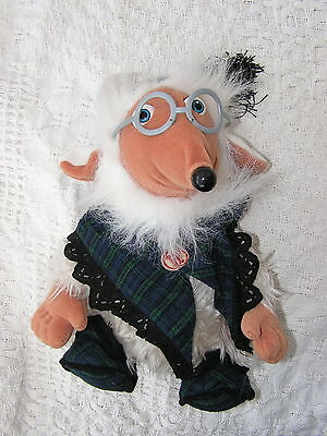 """COLLECTIBLE 1998 'UNCLE BULGARIA' WOMBLES by Elizabeth Beresford 10"""" plush toy"""