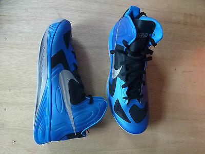 Rare NIKE Hyperfuse blue/grey/black Basketball Trainers UK 16 EUR 51.5-Cost £100