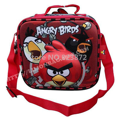 New Cute Angry Birds Lunch Box Bag for Boys Girls Teens School Children Primary