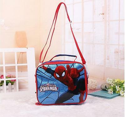 New Spiderman Lunch Box for Boys Bag Teens School Children Primary Picnic Cool