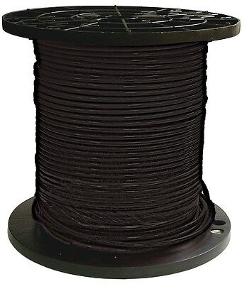 Southwire 500' 8 Black Stranded CU THHN Wire Electrical Conductor Building - NEW