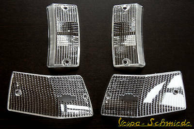 Vespa - Set INDICATOR LENS COMPLETE - White - PX / Lusso/ T5 - Kit Glass
