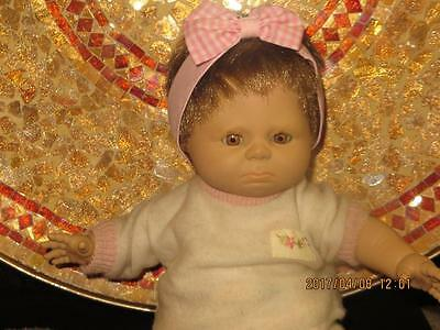 Spain Vintage Berjusa 1984 Vinyl Baby Doll Pouty Lips Open-Close Eyes 19 Inch