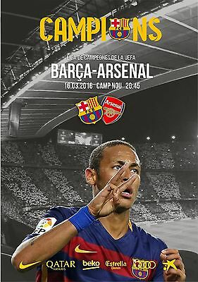 Programme Barcelona Spain v Arsenal 2016 Champions League Unofficial