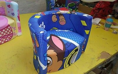 Paw patrol tub chair KIDS CHILDREN CARTOON CHARACTER BRANDED CHAIR ARMCHAIR