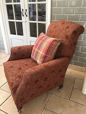 Newly Upholstered Edwardian Armchair