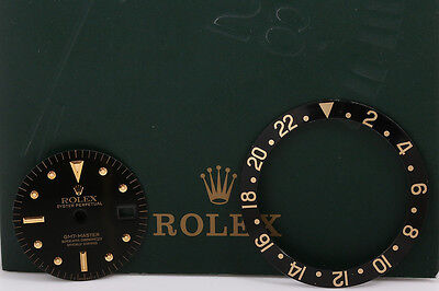 Rolex GMT Master Black Nipple 1675 Dial and Insert Combo FCD- 4624