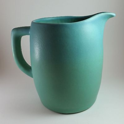 """Van Briggle Ming Turquoise Large 7"""" Pitcher Signed A.S. @1988"""