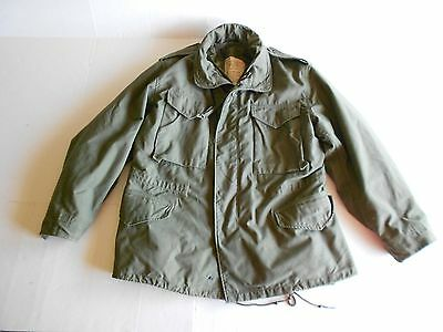 "70s US Army Cold Weather Field Jacket w/Hood w/Liner Chest 31""-41"" Medium  M-65"