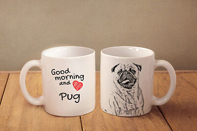 """Mops - ein Becher """"Good Morning and love"""" Subli Dog, CH"""
