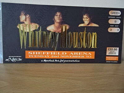 Whitney Houston Tour Ticket 1993 Sheffield